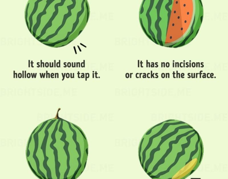 The8 Key Signs That aWatermelon IsGood toEat