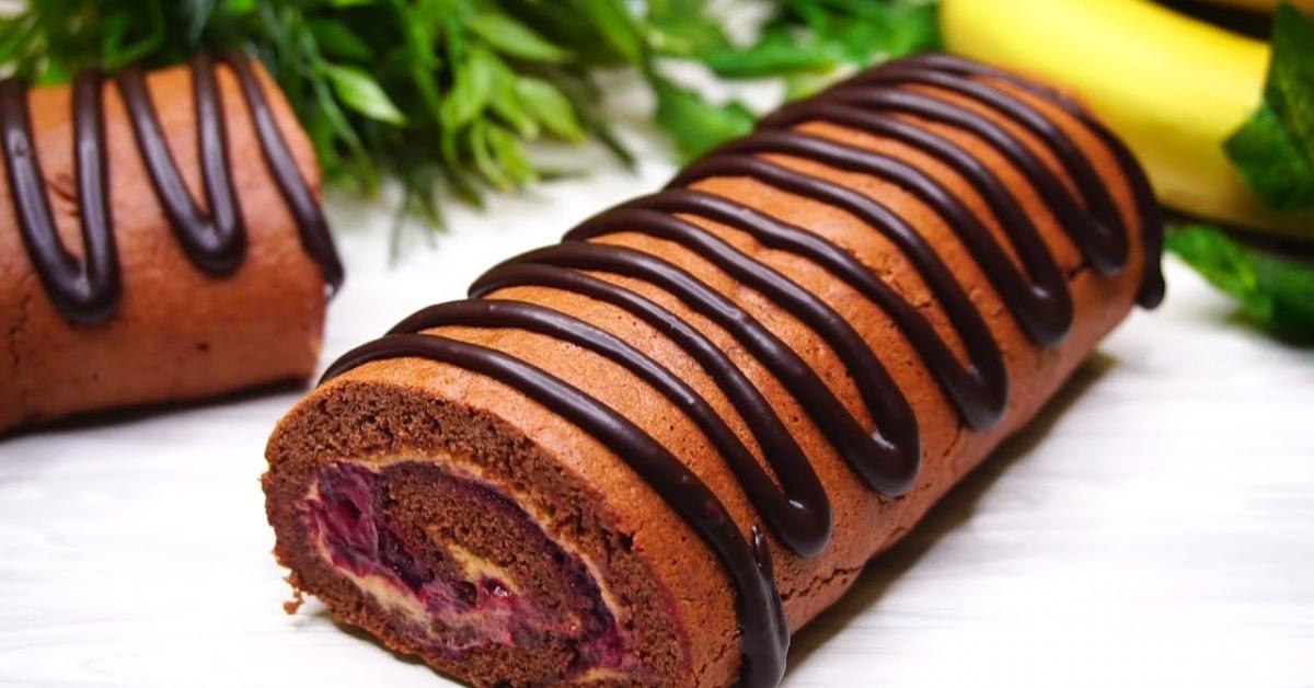 Շատ պարզ և արագ պատրաստվող շոկոլադե ռուլետի բաղադրատոսմ, որը փափուկ է և հալվում է բերանում